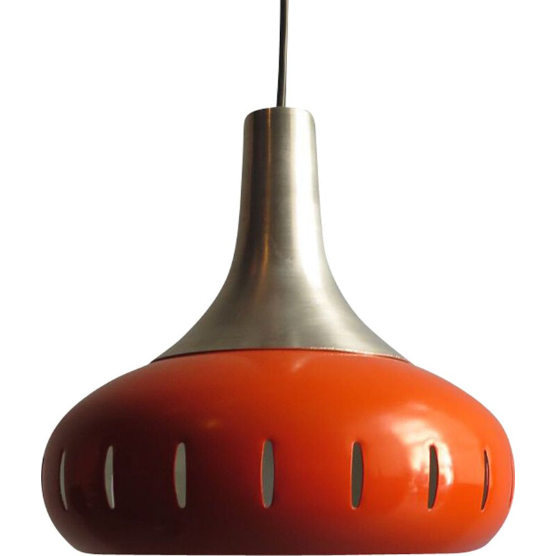 Vintage pendant light in metal orange, 1970s