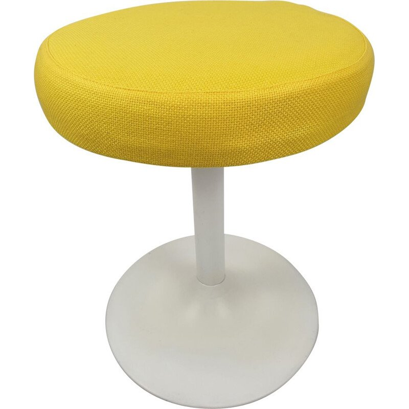 Vintage metal yellow stool, 1980s