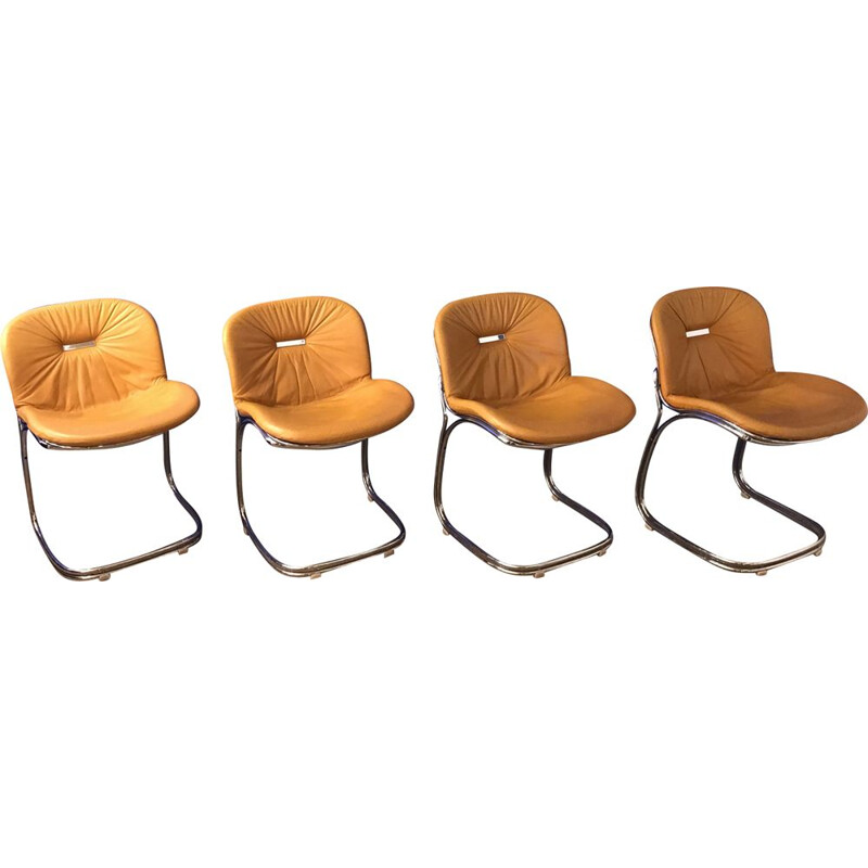 Set of 4 Sabrina chairs by Gastone Rinaldi for Rima, 1970