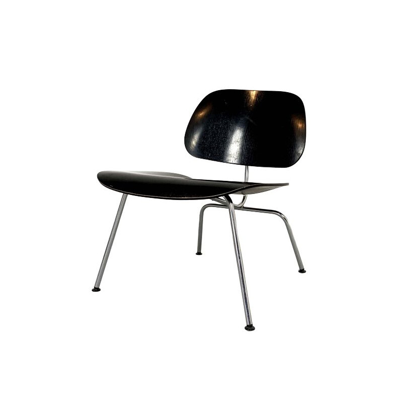 Black vintage LCM chair by Charles & Ray Eames for Vitra
