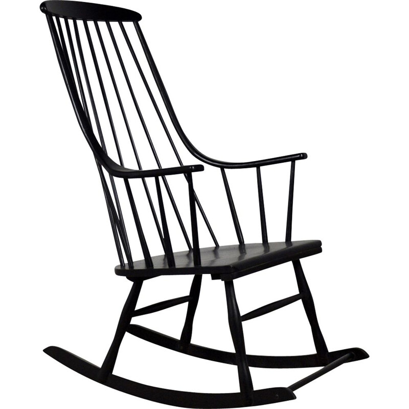 Vintage Rocking Chair by Lena Larsson for Nesto, 1958