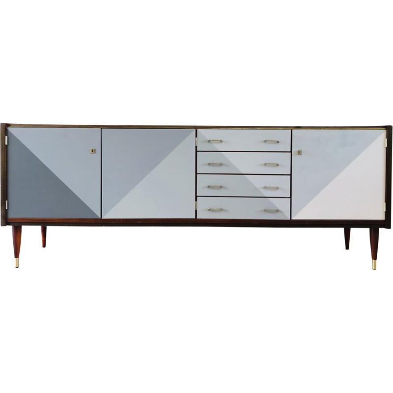 Vintage gray shade graphic sideboard 1965