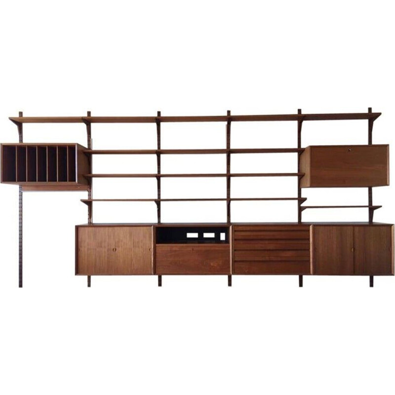 Vintage teak modular shelf by Poul Cadovius for Royal System