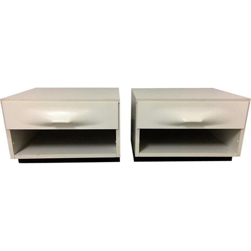 Pair of vintage bedside tables by Raymond Loewy for DF2000