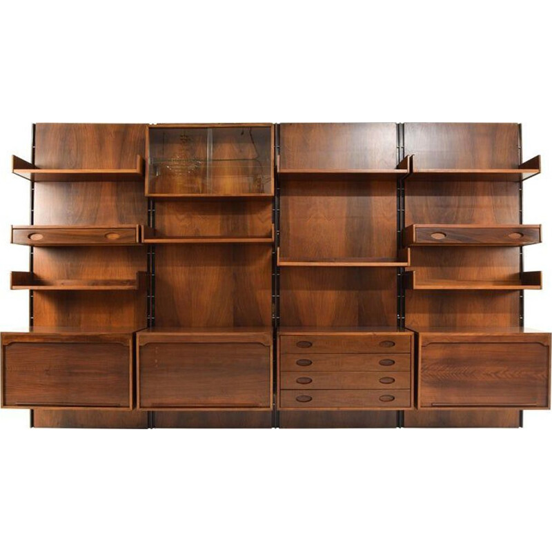 vintage Italian Modular Wall Unit by Gianfranco Frattini for Bernini, 1960s