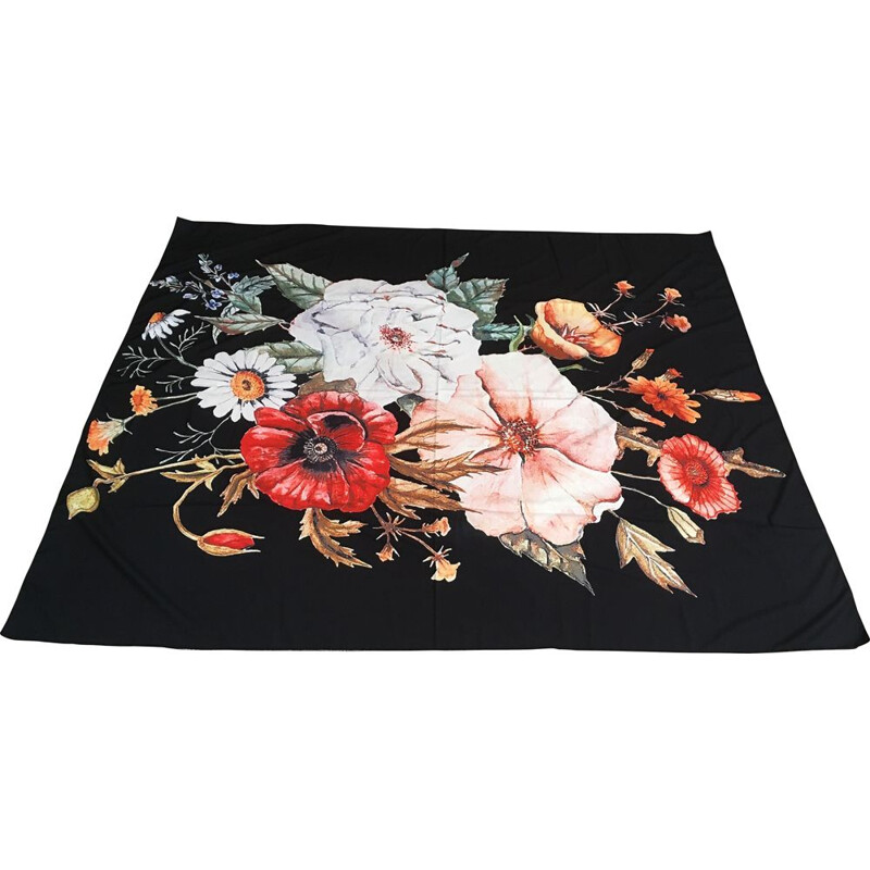 Large vintage floral wall hanging