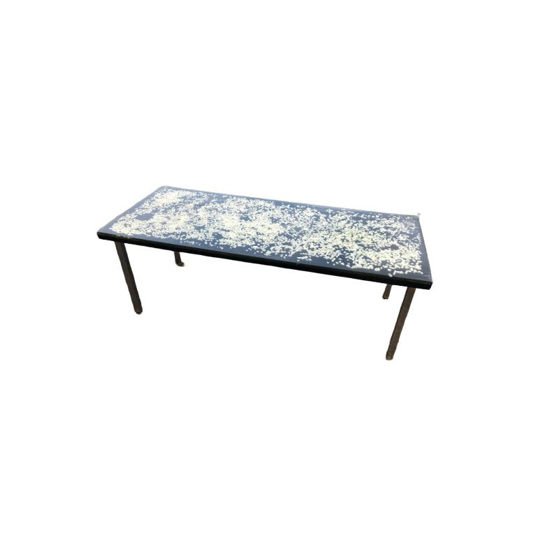 Vintage resin coffee table by Pierre Giraudon 1970