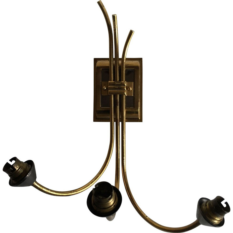 Vintage retro wall light in brass-plated steel, 1960s