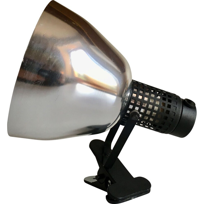 Vintage spotlight in aluminium and lacquered steel