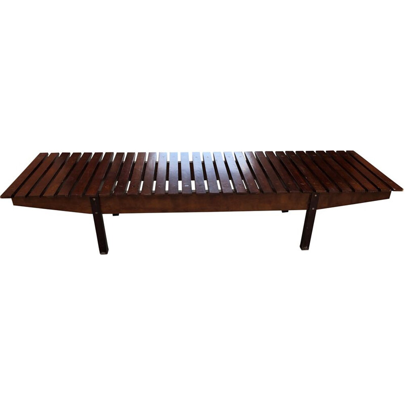 """Vintage bench model """"Mucki"""" in rosewood by Sergio Rodrogues, 1958s"""