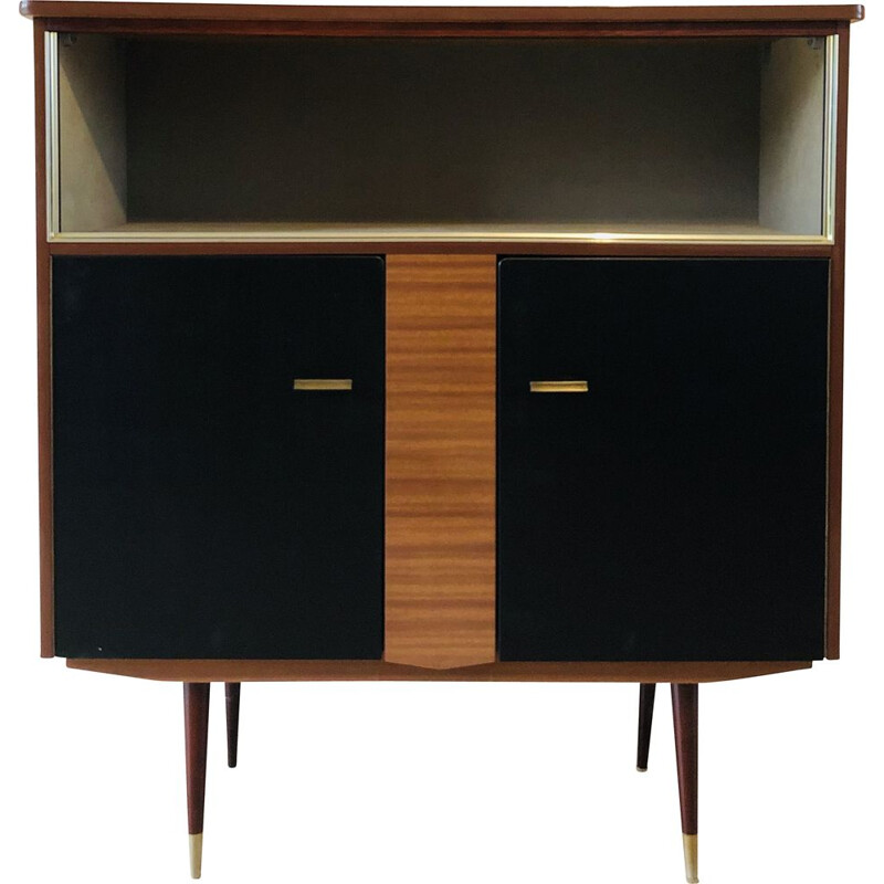 Vintage buffet in formica and golden brass