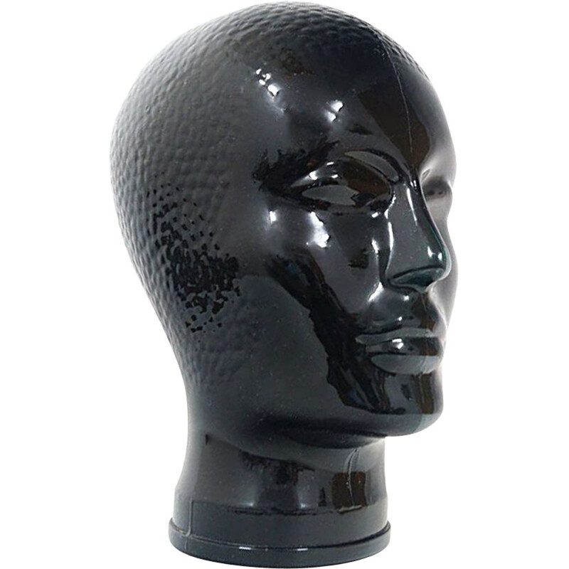 Vintage glass head by Atelier Fornasetti, 1960s