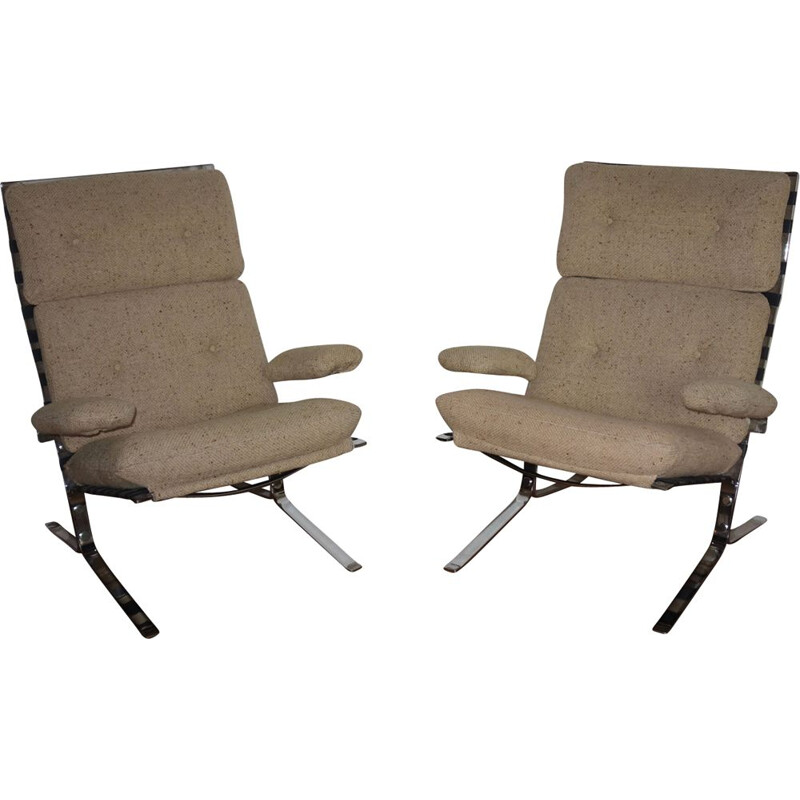 Pair of Olivier Mourgue's vintage Joker armchairs for Airborne from 1964