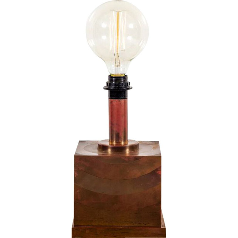 Vintage Danish copper table lamp