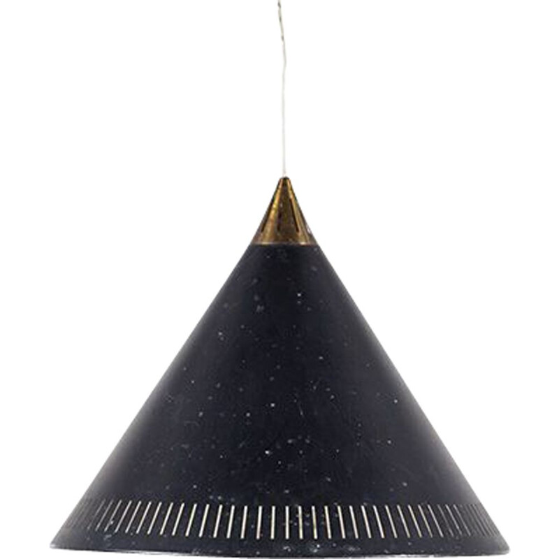 Vintage conical Kegle pendant lamp by Bent Karlby for Lyfa