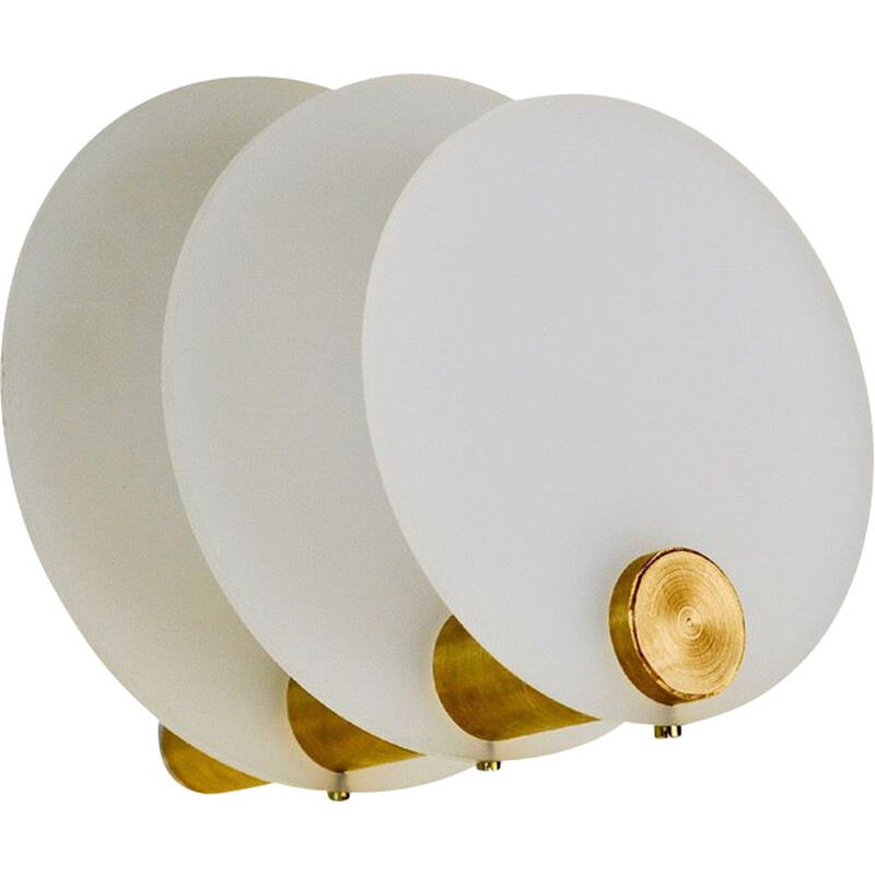 Vintage Umea LED wall light in brass and perspex
