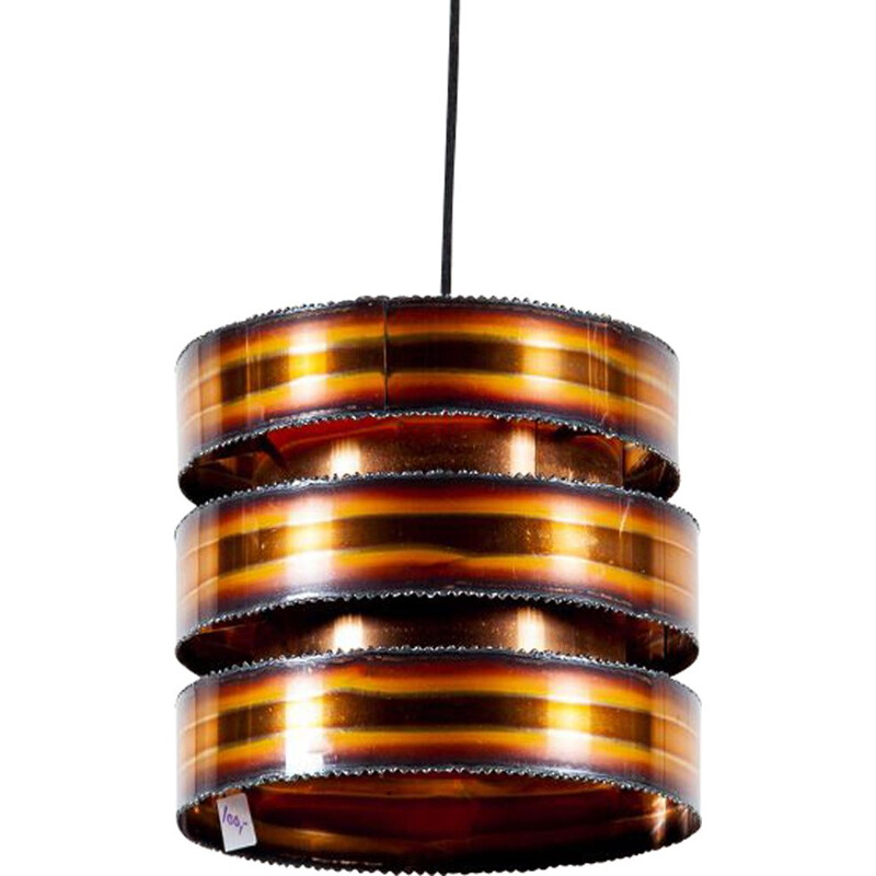 Vintage brutalist pendant light by Svend Aage Holm Sørensen for Holm Sørensen & Co, 1960s