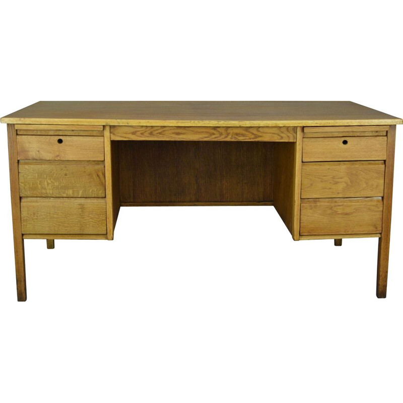 Vintage oak desk by Burndale, United Kingdom
