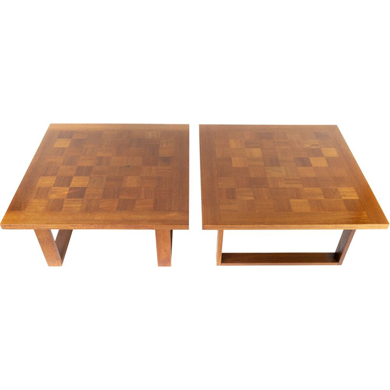 Pair of coffee tables by Poul Cadovius for Cado 1960s