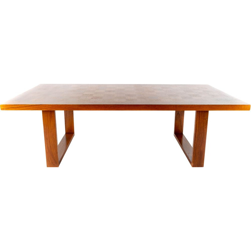 Vintage Boogie Woogie large teak coffe table by Poul Cadovius for Cado, Denmark, 1960s