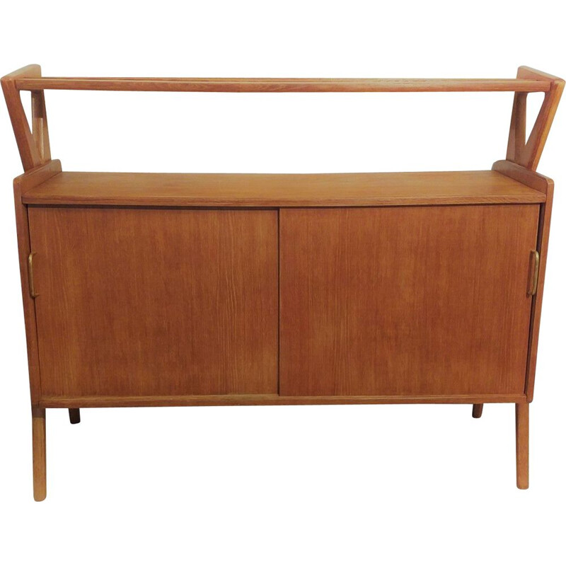 Vintage solid oak sideboard by Louis Paolozzi, 1950