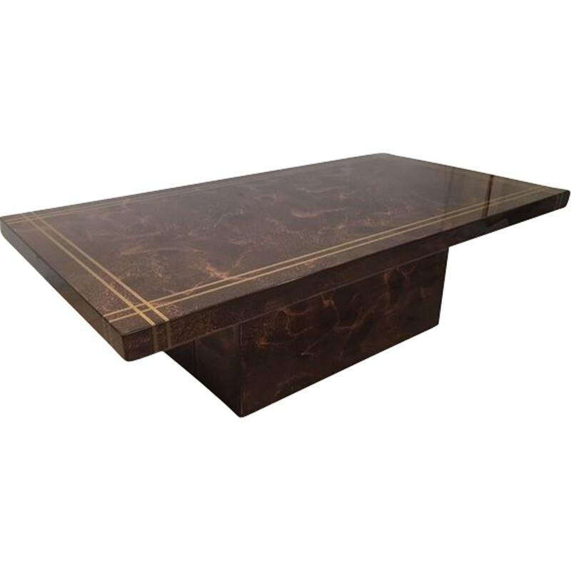 Vintage lacquer coffee table, 1970