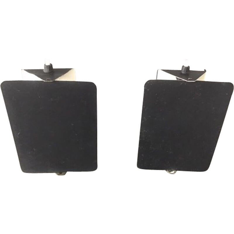 Pair of vintage flap sconces by Charlotte Perriand 1970