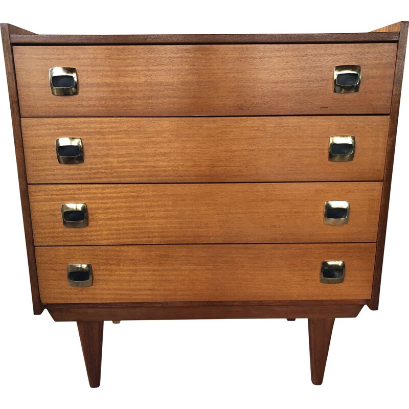 Vintage 4 drawer chest by Henri Couture, 1960