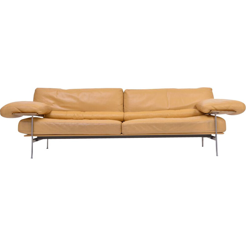 Vintage Diesis sofa in leather by Citterio & Nava for B&B Italia, 1979