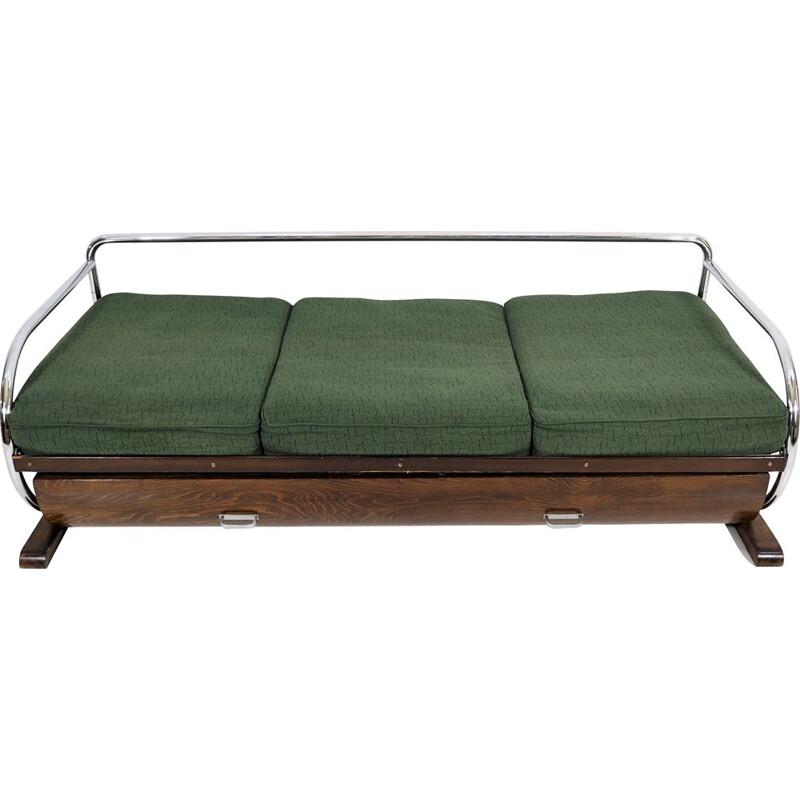 Art deco green vintage sofa