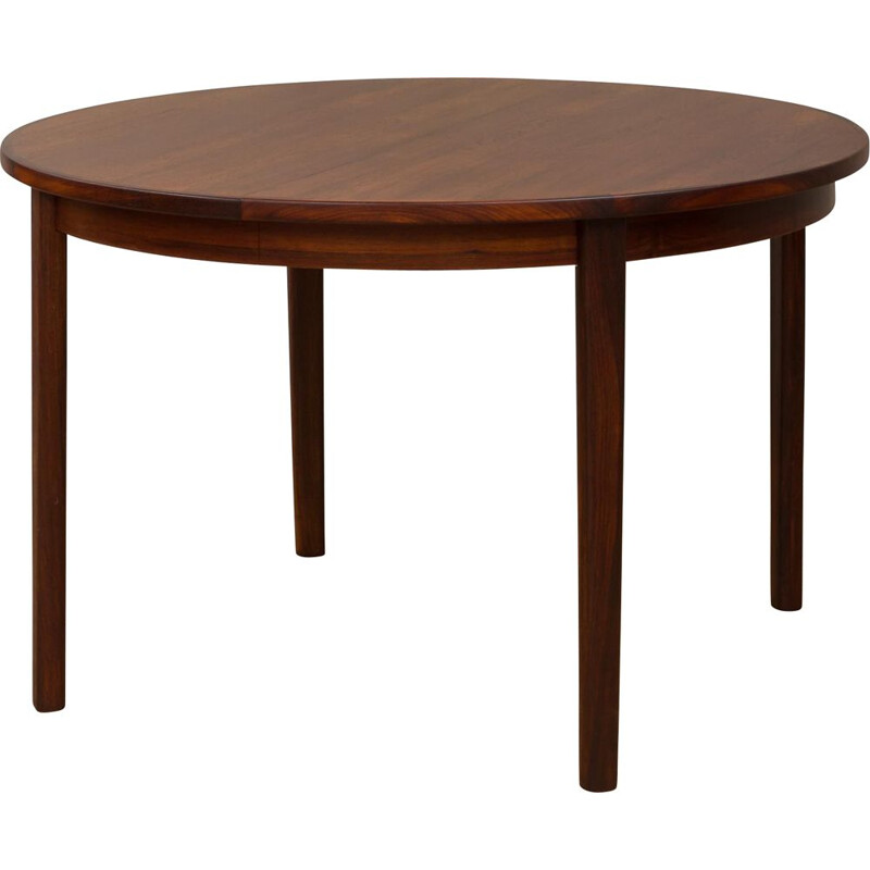 Vintage Danish rosewood extension table with 3 leaves by Skovby