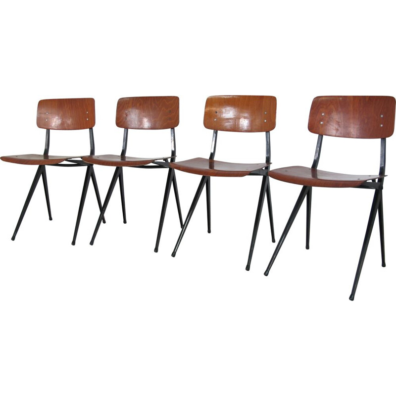 Set of 4 Vintage, Industrial Chairs from Marko, 1950