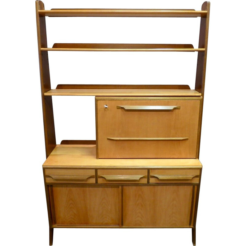 Vintage modular shelf with its 1950's design stamp desk