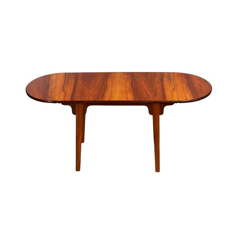 Vintage Danish Walnut Coffee Table with extendable top, 1970s