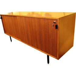 Sideboard in wood and metal, Florence KNOLL - 1970s