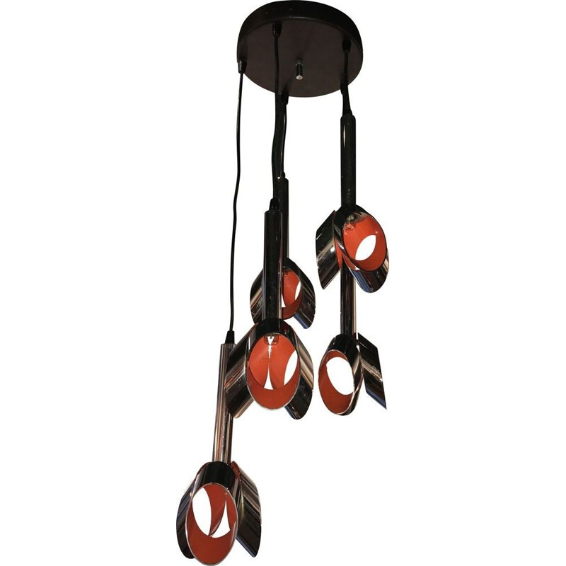 Vintage orange chrome suspension by RAAK