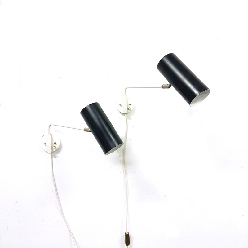 Pair of vintage wall lamps by Anvia