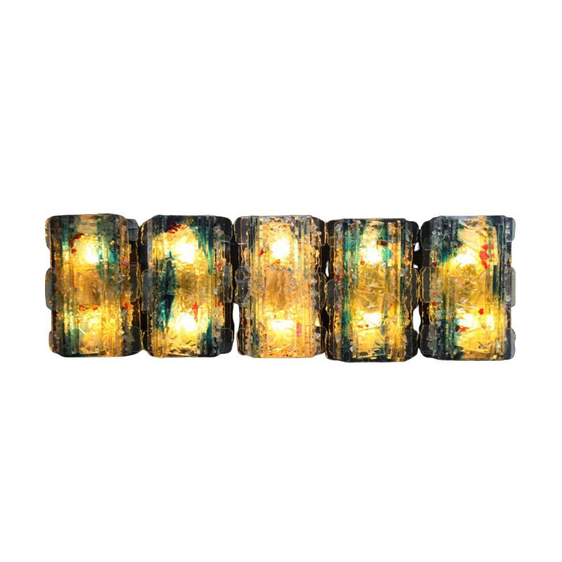 "Set of 5  vintage wall lamps multicolored glass - model ""Chartres""- Raak - The Netherlands - 1960"
