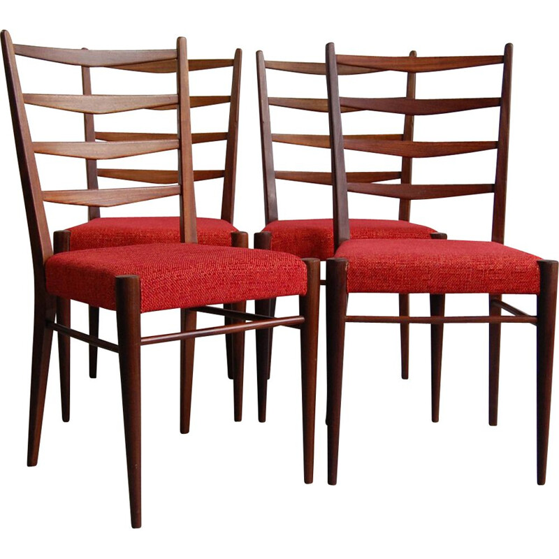 Suite of 4 vintage chairs ST09 by Cees Braakman for Pastoe, 1960s