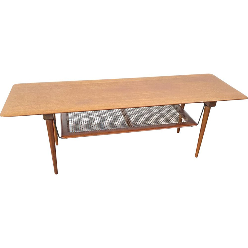 Vintage FD 516 teak table from Peter Hvidt & Orla Molgaard Nielsen for France & Son, 1960s