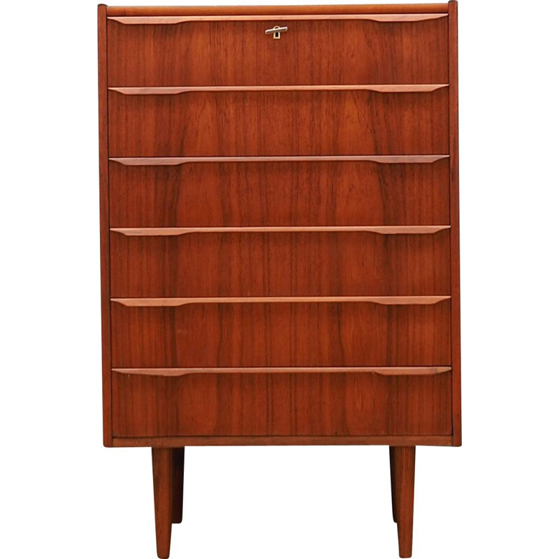 Vintage teak Chest Of Drawers, Denmark, 1960-70s