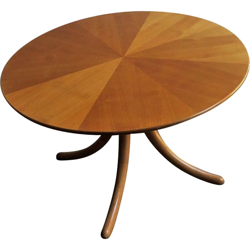 Vintage birch coffee table 1960s