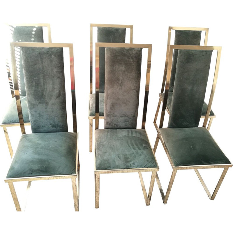 Set of 6 vintage chairs by Michel Mangematin 1970