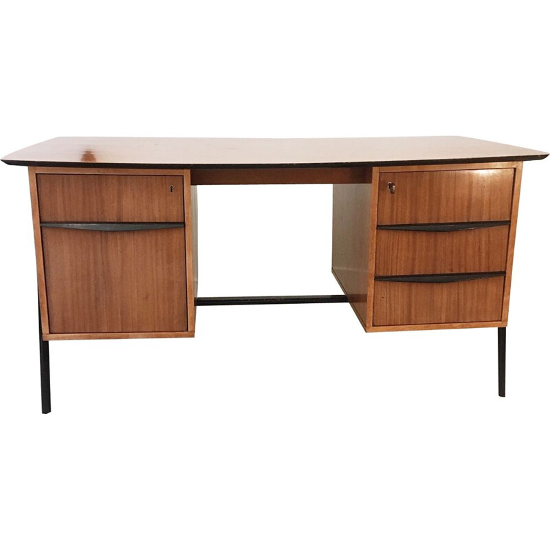 Vintage desk by Alfred Hendrickx, for Belform, Belgium, 1950s
