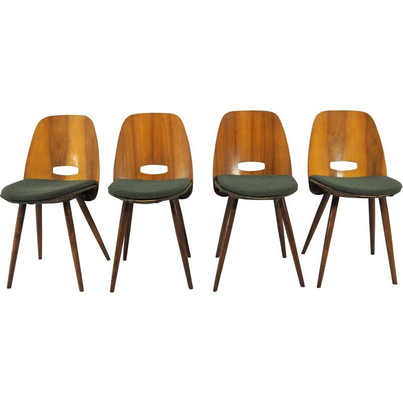 Set of 4 vintage dining chairs from Tatra, 1960s