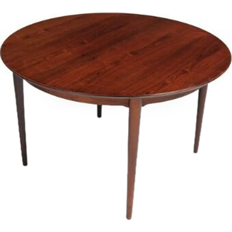 Vintage rosewood circular dining table by Mobilier Dansk