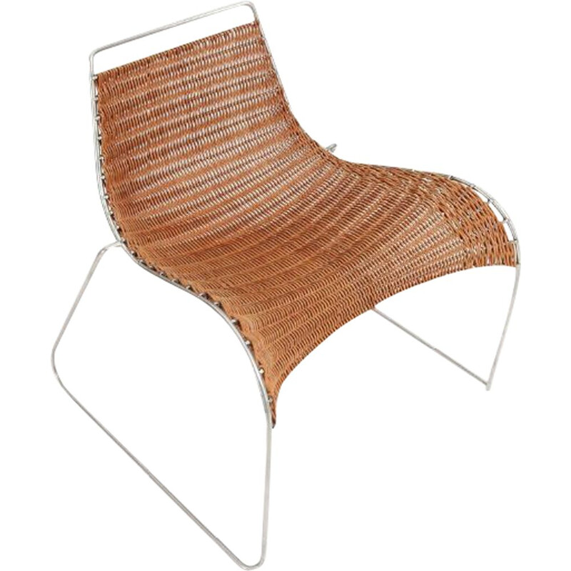 "vintage Prototype armchair ""Rib Chair"" by Hans Isbrand"