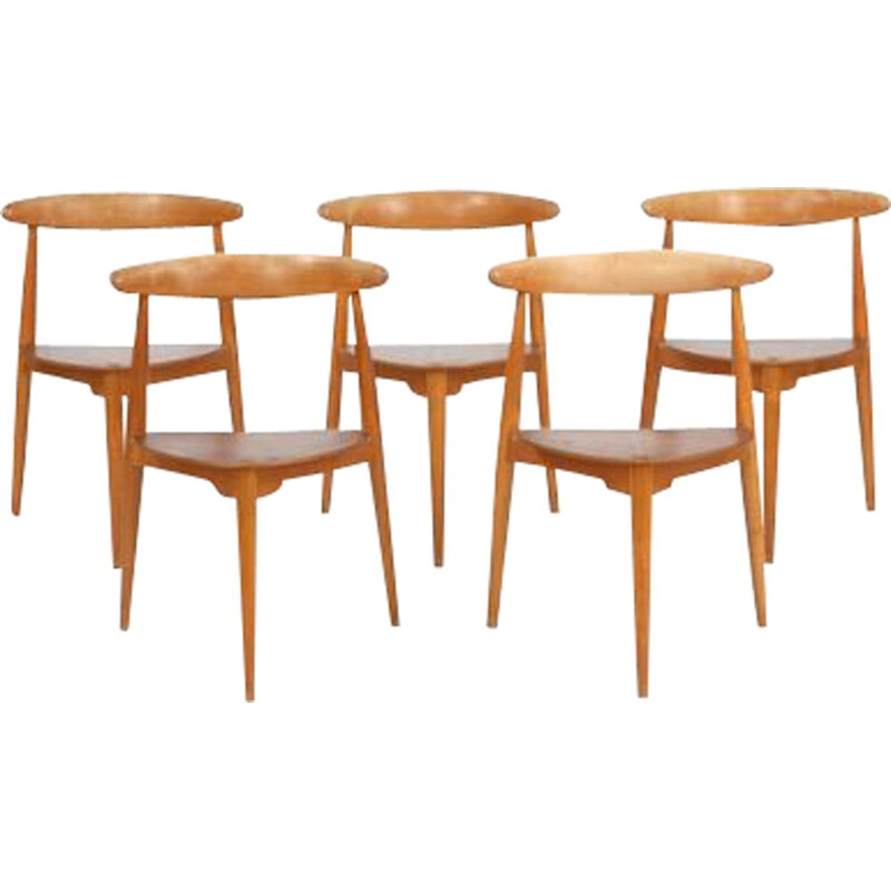 Suite of 5 vintage chairs Model FH 4103 by Hans J. Wegner