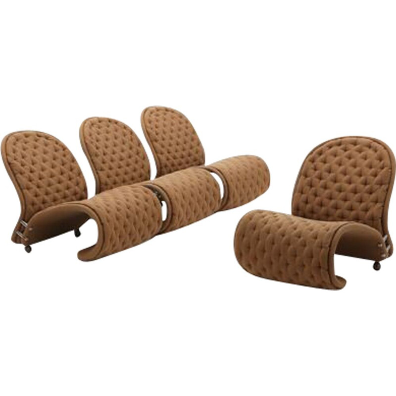 """Set of vintage armchairs """"System 1-2-3"""" by Fritz Hansen"""