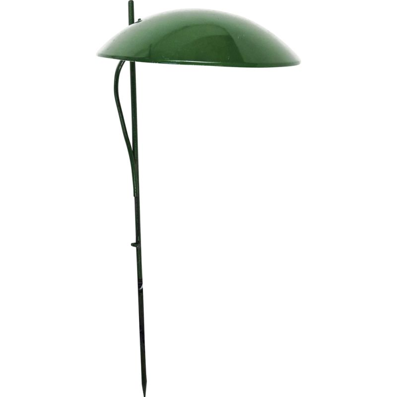 Vintage green dome shaped outdoor lawn light, 1970s